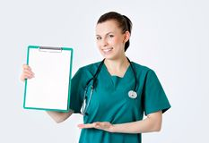 Smiling medical female doctor Royalty Free Stock Photos