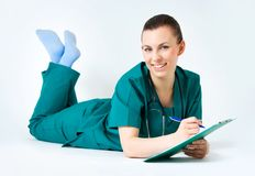 Smiling medical female doctor Royalty Free Stock Photography