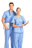 Smiling medical people Stock Image