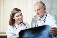 Radiologists working Stock Photo
