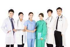 Smiling medical team isolated on white background stock image