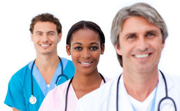 Smiling medical team standing Royalty Free Stock Images