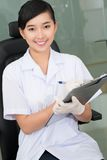 Smiling medical worker Royalty Free Stock Images
