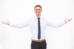 Smiling men isolated on the white background Stock Photos