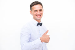 Smiling men isolated on the white background Stock Images