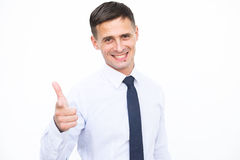 Smiling men isolated on the white background Royalty Free Stock Images