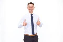 Smiling men isolated on the white background Stock Image