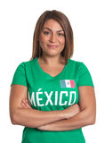 Smiling mexican girl with crossed arms Stock Image