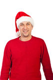 Smiling mid adult Santa Claus Royalty Free Stock Photos