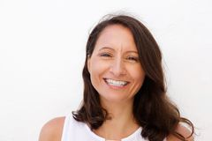 Smiling mid adult woman Royalty Free Stock Images