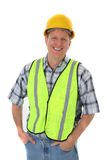 Smiling Mid-age Construction Worker Portrait Stock Photo