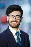 Smiling Middle – Eastern Businessman in Glasses Royalty Free Stock Image