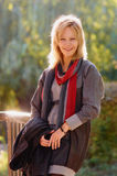 Smiling Middle age woman Stock Images