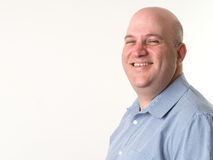 Smiling Middle Aged Bald Man royalty free stock photo