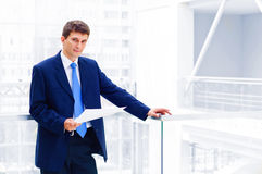 Smiling middle aged business man Stock Photography