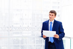 Smiling middle aged business man Royalty Free Stock Images