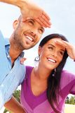 Smiling middle-aged couple Stock Images