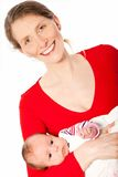 Smiling middle-aged mother with a beautiful baby Stock Photo