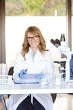 Woman in science Stock Photo