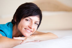 Smiling middle aged woman Royalty Free Stock Images