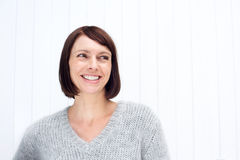 Smiling middle aged woman Royalty Free Stock Image