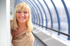 Smiling middleaged businesswoman stock photography