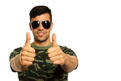 Smiling military man Royalty Free Stock Images