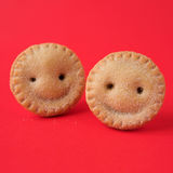 Smiling Mince pies Stock Photos