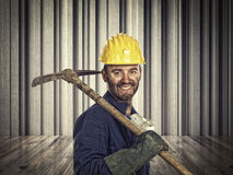 Smiling miner Stock Photos