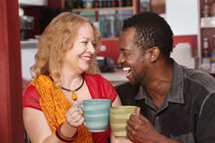 Smiling Mixed Couple Laughing Stock Photography