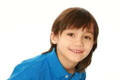 Smiling mixed race boy looking at camera Stock Image