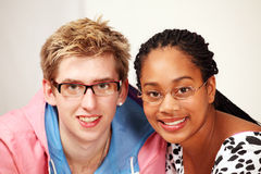 Smiling mixed race couple Royalty Free Stock Photo