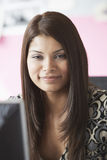 Smiling Mixed Race Female Executive At Office Stock Images