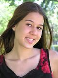Smiling Mixed-Race Girl. Head shot of a smiling mixed-race girl Stock Photography