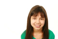 Smiling mixed race girl looking at camera Royalty Free Stock Images