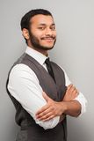 Smiling mixed race man looking at camera Royalty Free Stock Image