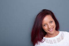 Smiling mixed race woman Royalty Free Stock Image