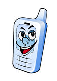 Smiling mobile phone Stock Image