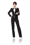 Smiling modern business woman Stock Photography