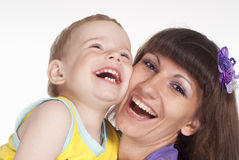 Smiling mom and baby Royalty Free Stock Photography