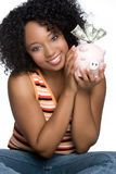Smiling Money Girl Royalty Free Stock Photography