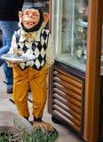Smiling monkey in Budva ,Montenegro. Smiling monkey in  a bar in Budva ,Montenegro Royalty Free Stock Images