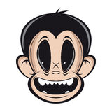 Smiling monkey face Stock Photos