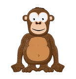 Smiling Monkey. Vector illustration of a brown monkey smiling Stock Image
