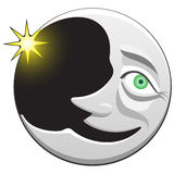 Smiling moon Royalty Free Stock Image