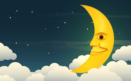 Smiling moon Royalty Free Stock Images