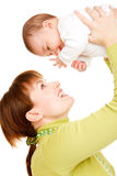 Smiling  mother and baby Royalty Free Stock Photography
