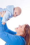 Smiling mother and baby Stock Image