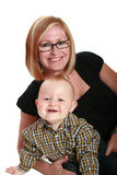 Smiling mother and baby Royalty Free Stock Images