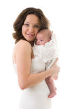 Smiling mother with baby girl Royalty Free Stock Images